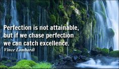 Perfection is not attainable, but if we chase perfection we can catch excellence. #motivationalquotes #inspirationalquotes