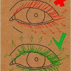 Como desenhar cílios