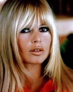 Brigitte Bardot in the 1960s. So beautiful and this look is now back, (if it ever left). Love her hair and especially her eye makeup.