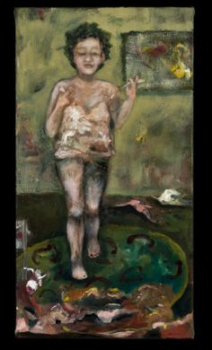 """Figurative Art – Figurative Paintings – Humanistic Figures – Tracy Ostmann_Closet cleaning_7"""" x 11"""""""