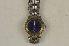 Vintage Quartz Watch - Fossil Blue 100 Meters ~ Parts/Repair #FOSSIL