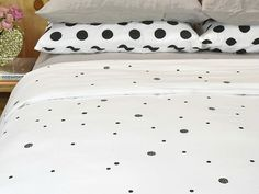 *ALMOST GONE* QUEEN Confetti pure cotton quilt cover in Deep Charcoal  - I Love Linen  - I Love Linen