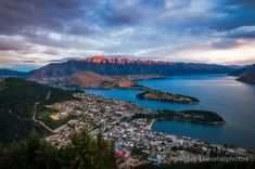 25% Wall Art: Use code DREAM25 Expires June 21, 2018, at 11:59 pm Red light on the mountain in Queenstown at sunset