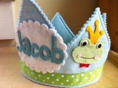 frog prince birthday crown