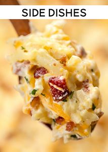 THE ULTIMATE Cracked Out Potatoes - Cheddar, bacon, ranch, cream of chicken soup. Chicken Soup Recipes, Cream Of Chicken Soup, Potato Recipes, New Recipes, Cooking Recipes, Favorite Recipes, Easy Recipes, Crack Potatoes Recipe, Recipies