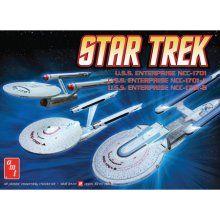 AMT 1/2500 Star Trek Enterprise Starship Model Kit Set