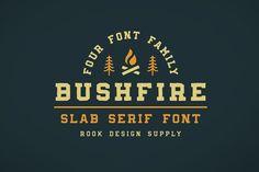 Bushfire - 4 Font Family by Greg Nicholls on @creativemarket