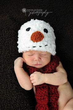 Newborn Baby Boy Girl Christmas Snowman by Maddiesdivinedesigns