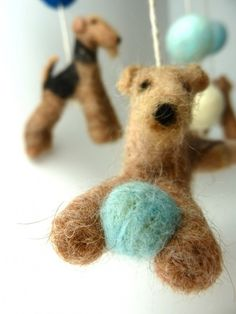 Lakeland and Airedale Terrier Mobile
