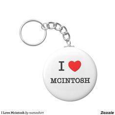 I Love Mcintosh Basic Round Button Keychain
