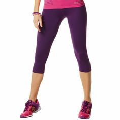 Amazon.com: Zumba Fitness Women's Craveworthy Capri Leggings: Purple