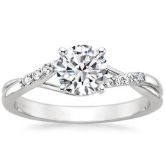 18K White Gold Chamise Diamond Ring from Brilliant Earth. Center stone size 1.6 is preferable.