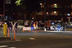 警防情報 通行止め  多摩市関戸3丁目 川崎街道と鎌倉街道が交わる 新大栗橋交差点 交通事故により、川崎街道は稲城方向 通行止めです。 出向各隊は道路選定に注意してください。