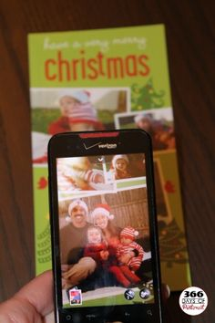 Preserving Holiday Cards - Use the pictures for contacts on your phone