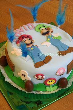 Tarta Infantil Personalizada. Mario & Luigi. (Súper Mario Bros).  https://www.facebook.com/PastelesMG