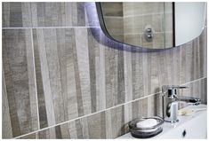 Create a feature wall with parquet weathered elm tiling Bathroom Inspo, Bathroom Styling, Bathroom Wall, Contemporary Bathroom Furniture, Contemporary Bathroom Designs, Dark Bathrooms, Modular Furniture, Tiling, Scandinavian Style