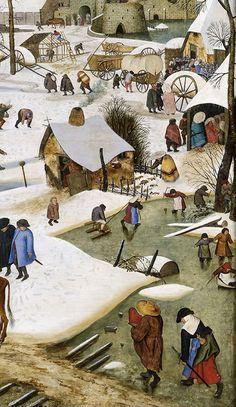 Medieval Houses, Medieval World, Medieval Art, Large Painting, Painting & Drawing, Pieter Brueghel El Viejo, Hunters In The Snow, Pieter Bruegel The Elder, Johannes Vermeer