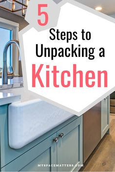 Organize and unpack your kitchen on moving day | kitchen organization Declutter, Organize, Kitchen Work Triangle, Used Cabinets, Everyday Dishes, Moving Day, Hidden Storage, Finding A House, Cooking Tools