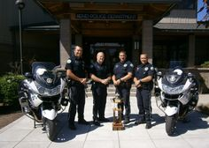 Bend Police Department officers with motorcycles #Setcom