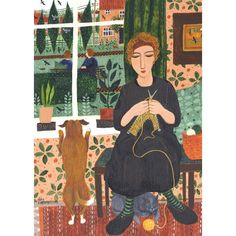 Dee Nickerson, Looking Out, Art Card