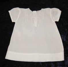 1940S INFANT DRESS WHITE ON WHITE DECORATION @ VINTAGE TOUCH $8.00