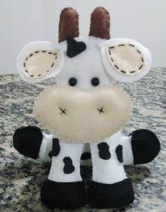 Resultado de imagem para molde vaca feltro