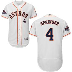 40407269b Astros  4 George Springer White Flexbase Authentic Collection 2017 World  Series Champions Stitched MLB Jersey