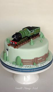 Small Things Iced Flying Scotsman Birthday Cake