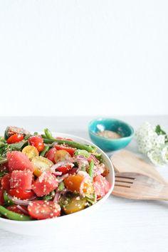 Wassermelonensalat mit Sesam – Foodblog