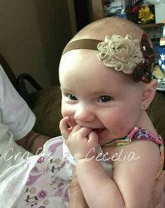 Brown butterfly tan chiffon flower headband sparkle bow for baby, child and adult - pinned by pin4etsy.com