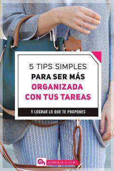 5 Tips para ser mas organizada #organizacion #productividad #emprendedoras #motivacion #gabrielah