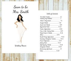 Personalized Wedding Planner Starting at $20.00