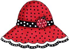 Lady bugs beach hat