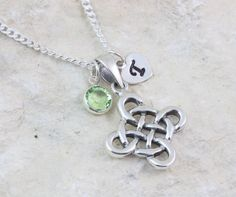 Sterling silver Celtic knot necklace. by JewelryWithAMeaning