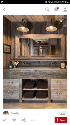 Awesome Farmhouse Bathroom Vanity Remodel Ideas – Best Home Decorating Ideas Rustic Bathroom Designs, Rustic Bathroom Vanities, Modern Farmhouse Bathroom, Rustic Bathroom Decor, Rustic Bathrooms, Rustic Decor, Rustic Farmhouse, Bathroom Ideas, Bathroom Plans
