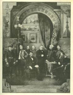 Lithograph, President Lincoln & His Commanders