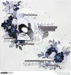 Generally about scrapbooking and anything crafty- traditional, digital and hybrid Scrapbooking Layouts, Scrapbook Paper, Mini Albums, Dark Blue Flowers, Foam Sheets, Layout Inspiration, Paper Cards, Handmade Flowers, Stargazing