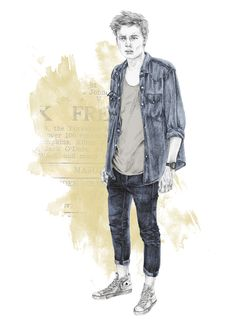 Men'S fashion by rebecca abell, via behance fashion maker, fashion art, man illustration Illustration Mode, Fashion Illustration Sketches, Fashion Sketches, Drawing Fashion, Mens Fashion Summer Outfits, Mens Fashion Week, Fashion Maker, Fashion Art, Fall Fashion