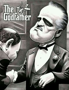 Gangster Flick is a site dedicated to exploring the gangster movie genre including Goodfellas (Scorsese) The Godfather (Coppola) Pulp Fiction (Tarantino) Funny Caricatures, Celebrity Caricatures, The Godfather Wallpaper, Shire, Don Corleone, Godfather Movie, Coppola, Gangster Movies, Andy Garcia