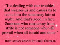 """From """"Annie's Stories"""" by Cindy Thomson"""
