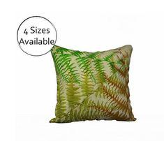 Fern Botanical Pillow Cover Printed Case Sham  Rustic Decor