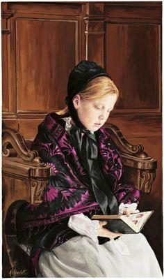 Rezando, s/d Michel Charvet (França, contemporâneo) óleo sobre tela, 54 x 30 cm