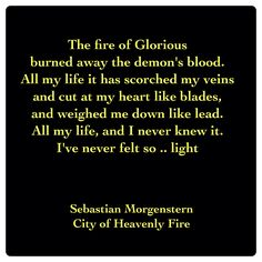 Sebastian Morgenstern - Dying Words (City of Heavenly Fire by Cassandra Clare ~ The Mortal Instruments book 6) Quote