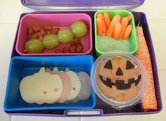 My Halloween themed Bento Box Lunch 2014 #bento #bentobox #Halloween #lunchbox