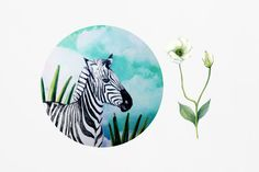 Zebra Mouse Pad Animal Mousepad Blue Mouse Mat by BlissNhome