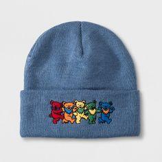 Junk Food Grateful Dead Beanie Hat Blue, Women's, Size: One Size Grateful Dead, Shades Of Red, Junk Food, Beanie Hats, Wool Felt, Blue, Orange Yellow, Gender Female, Bears