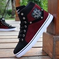 New Fashion 2018 Men's Casual High Top Sport Sneakers Athletic Running Shoes Mens Fashion Shoes, Sneakers Fashion, New Fashion, Fashion 2018, Style Fashion, Me Too Shoes, Men's Shoes, Shoe Boots, Punk Shoes