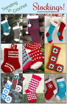 Come on over and see what's Trending in Crochet on The Purple Poncho this week … Stockings! A nice variety of free crochet patterns for crochet stockings that you can gift to your loved…