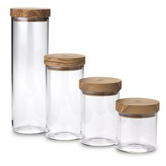 Jar borosilicate with lid 900 ml available olive wood or Walnut wood - BROWNE EUROPE BERARD: request quotes, estimates, prices or catalogues online through MOM, your digital platform dedicated to decor, design and lifestyle professionals. Food Storage Containers, Glass Containers, Glass Jars, Mason Jars, Storage Buckets, Shipping Containers, Jar Storage, Modern Outdoor Kitchen, Mason Jar Lighting