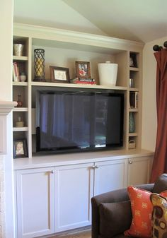 Built in shelving with small openings Christie Chase